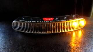 Helmet leds showng turn and brake signals