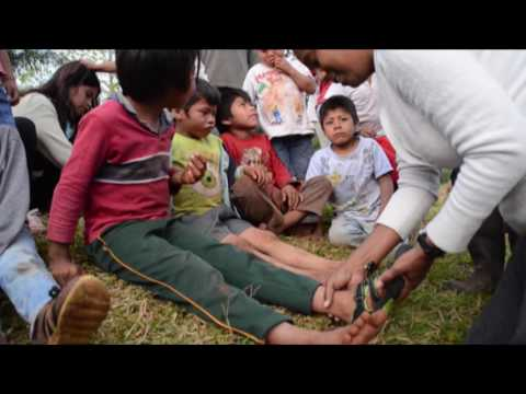 Shoe project to the Guarani people