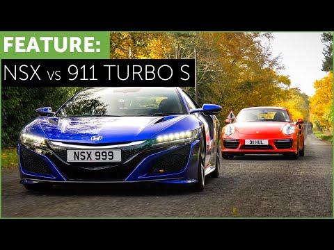 Porsche 911 Turbo S vs Honda-Acura NSX with Tiff Needell