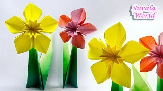 Origami  Daffodil, Narcissus (Paper Flower)