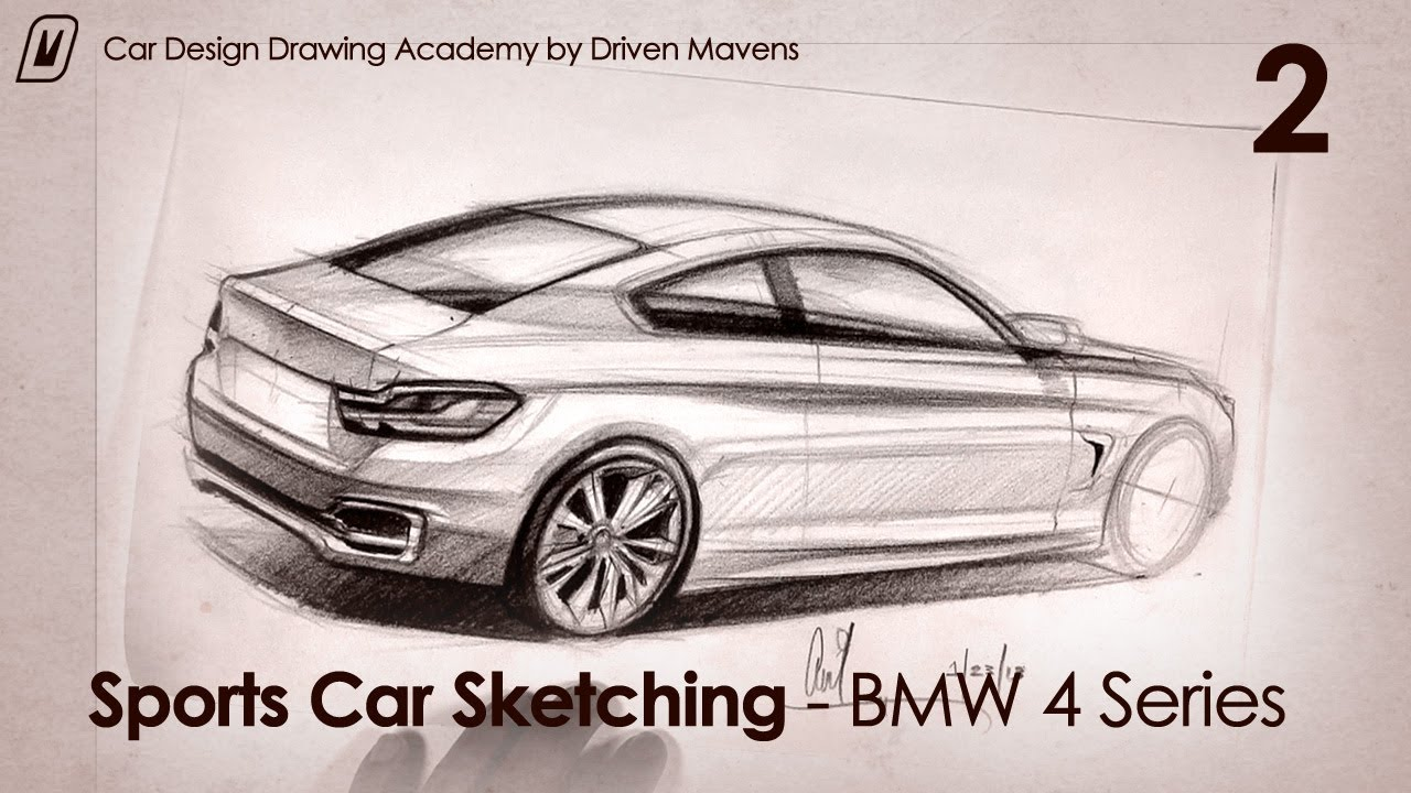 Drawing A Bmw 4 Series Rear View Sketch Youtube