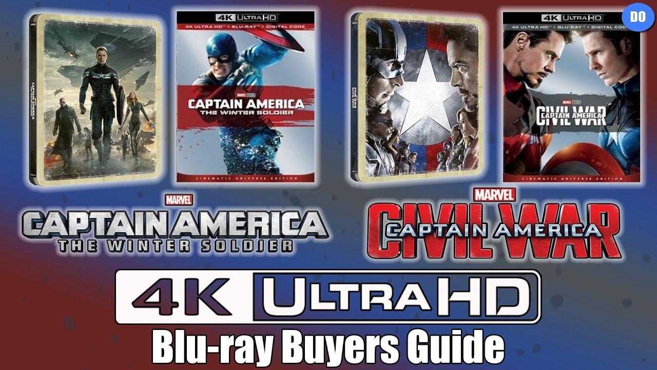 Captain America Civil War 4k: Captain America The Winter Soldier & Civil War 4K Ultra HD