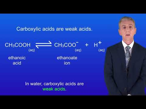 GCSE Chemistry (9-1 Triple) Carboxylic Acids