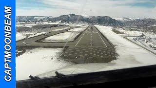 Snow, Traffic, ATC Audio: Citation Landing Eagle Colorado