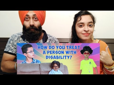 Indian Reaction on How do you treat a person with disability? | Ibzi Khan | PunjabiReel TV