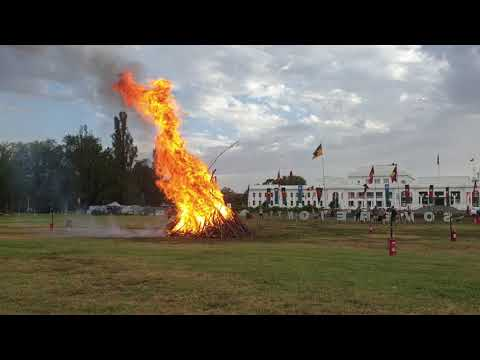 Burning of the pyre of remembrance, Invasion Day 2019 Canberra