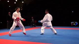 Karate1 PL, Almere 2014 - MAHDI vs. MARESCA - Kumite male -60 FINAL