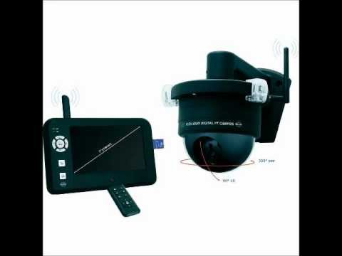 elro cs99pt wireless dome camera system with 4 channel 7. Black Bedroom Furniture Sets. Home Design Ideas