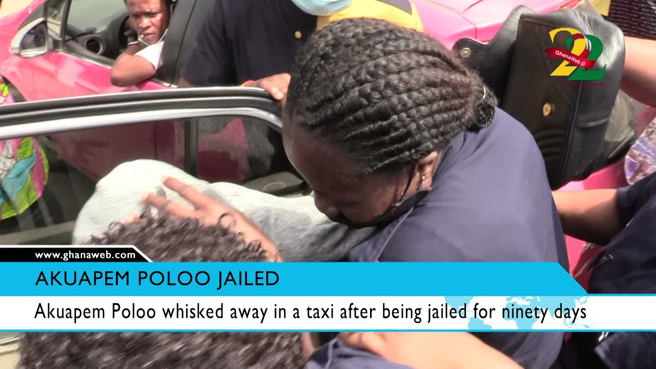 Download Akuapem Poloo whisked away in a taxi after being jailed for ninety days
