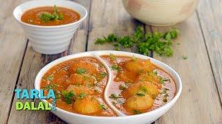 Dum Aloo, Popular Restaurant Style Punjabi Dum Aloo Recipe by Tarla Dalal