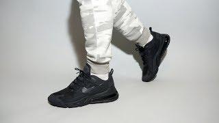 Nike Air Max 270 React Black CI3866-003 on feet