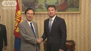 モンゴルを訪問中の谷内国家安全保障局長は、安全保障問題などについて...