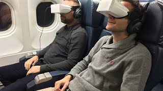 The Future of in-Flight Entertainment: Skylights Theater Headsets Display 2D/3D Cinema Experience