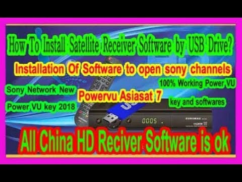 How To Install All HD Satellite Receiver Software by USB Drive.all receiver software is ok.