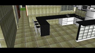 Projeto Grátis em 3D 2019 de uma Casa de 135m² - Final