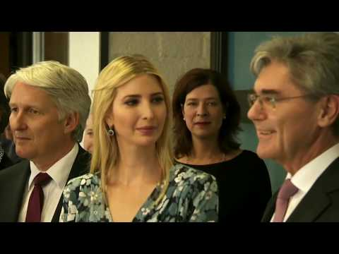 WATCH: Ivanka Trump Visits Technology School in Berlin