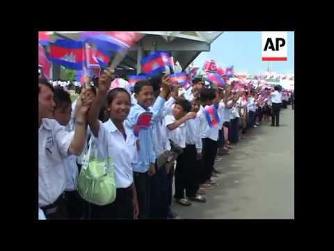 NKorea PM Kim Yong Il arrives in Phnom Penh