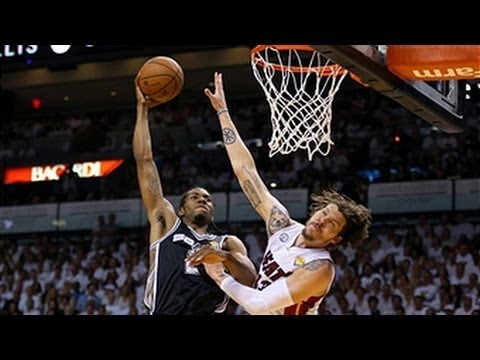 Kawhi Leonards Big Posterizing Dunk On Mike Miller Youtube
