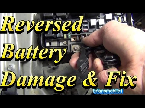 Battery Backwards Damage and Fix