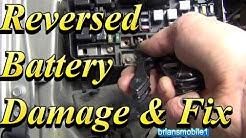 Battery Backwards Damage and Fix