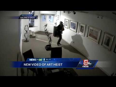 Video shows art heist at Newbury Street gallery