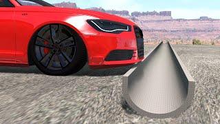 Cars Vs Reverse Speed Bump – BeamNG.Drive