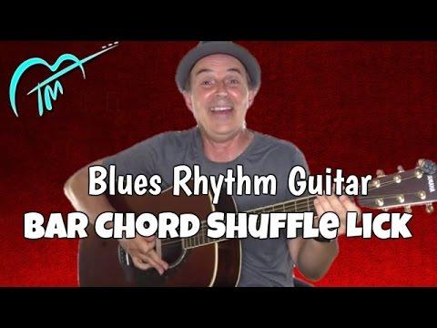 bar chord blues shuffle blues rhythm guitar lesson youtube. Black Bedroom Furniture Sets. Home Design Ideas