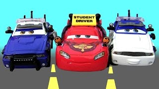 Cars To Protect and Serve Mattel 3-Pack Diecast Cars Toon New Movie Student Driver Lightning McQueen