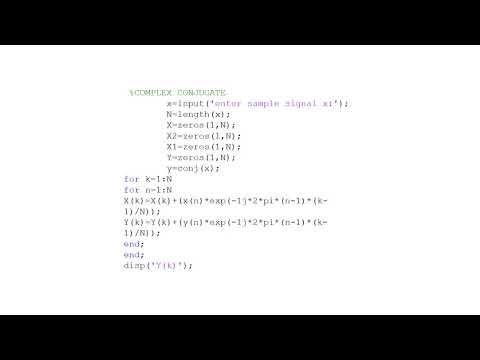 MATLAB code for Discrete Fourier transform (DFT) property m file