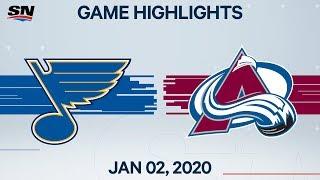 NHL Highlights   Blues vs Avalanche - Jan. 02, 2020