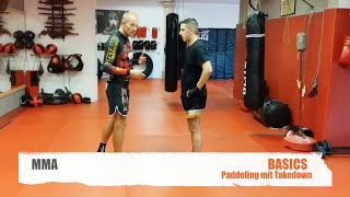 MMA-  Basics-  Paddling- Takedown