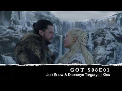 Game Of Thrones   Season 8 Episode 1   Jon Snow & Daenerys Targaryen Kiss