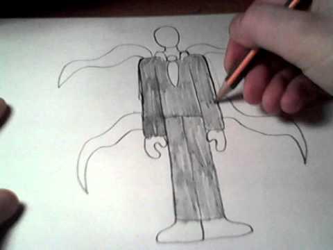 Как нарисовать слендермена карандашом поэтапно для начинающих