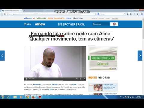 Fernando fala sobre noite com Aline: 'Qualquer movimento, tem as câmeras' - BBB 15
