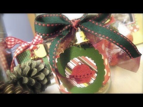 Dn4 c mo decorar una bolsa y un bote reciclado para regalo youtube - Decorar regalos navidenos ...