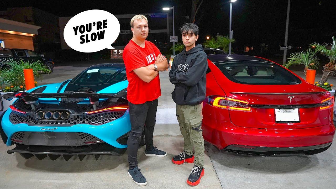 Tesla Model S Plaid vs McLaren 765LT | DRAG RACE |