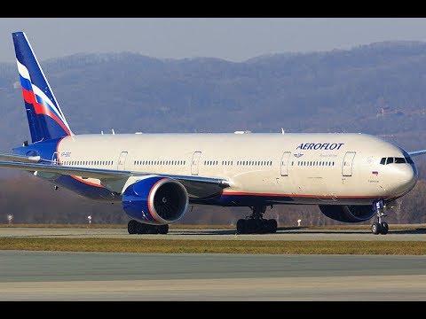 """Aeroflot"" Boeing 777 - 300ER Tel Aviv Ben Gurion (TLV) to Moscow Sheremetyevo (SVO)"