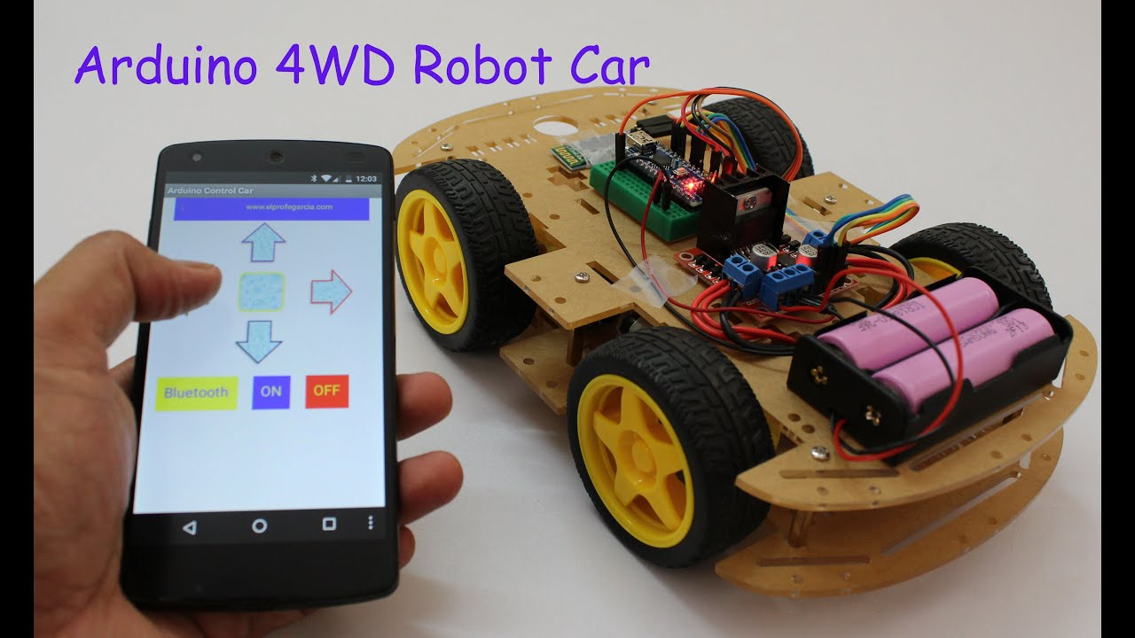 Smartphone controlled arduino 4wd robot car part ii youtube asfbconference2016 Images