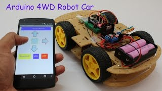 Smartphone Controlled Arduino 4WD Robot Car ( Part - II )