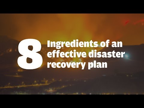 8 ingredients of an effective disaster recovery plan