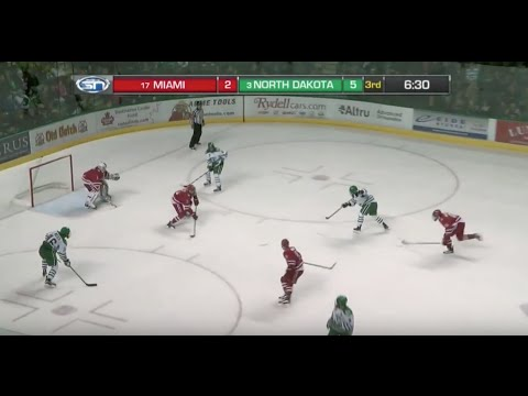 UND Hockey - Tic-tac-toe passing and goal - 11/13/15