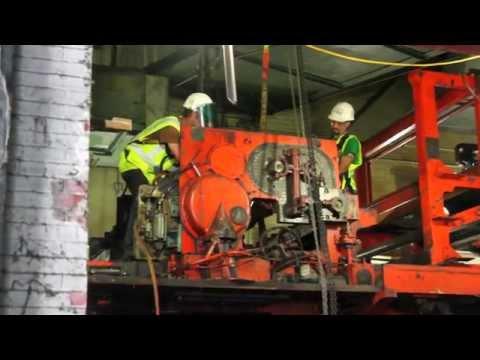 Demolition and Dismantling of Ledger-Enquirer Printing Presses Continues