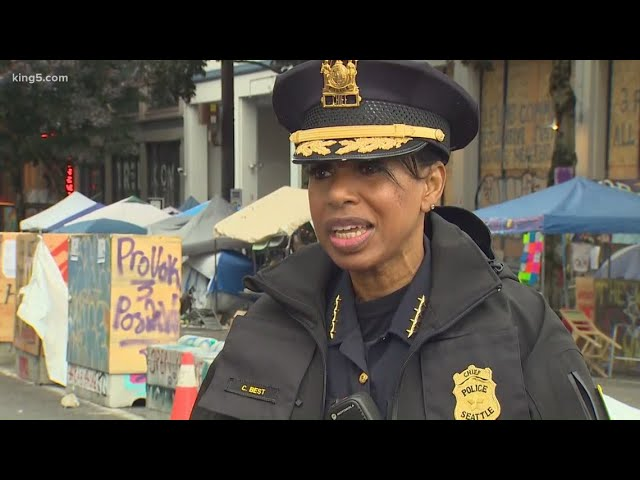 Chief Best gives briefing after Seattle police clear CHOP
