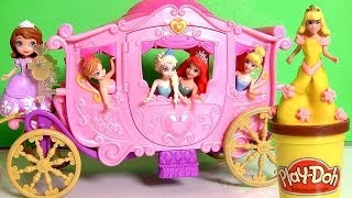 MagiClip Princess Aurora Royal Carriage Sleeping Beauty with Play-Doh Magic-Clip Cinderella Ariel