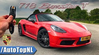 PORSCHE 718 BOXSTER T REVIEW POV Test Drive on AUTOBAHN & ROAD by AutoTopNL
