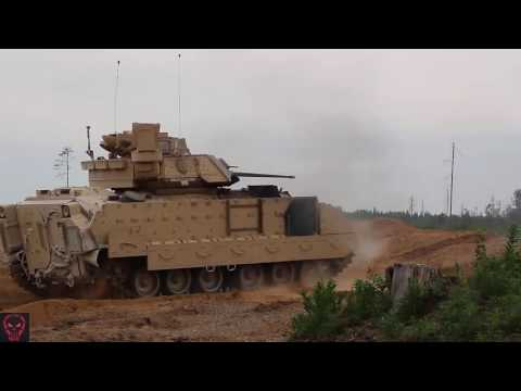 Military | U.S. Armored Vehicles Fire & Maneuver In Estonia