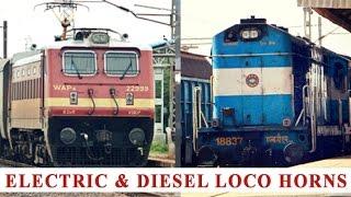 Indian Railways: Non Stop Electric & Diesel Engine Horns: WAP-4 Vs WDM-3A Engines