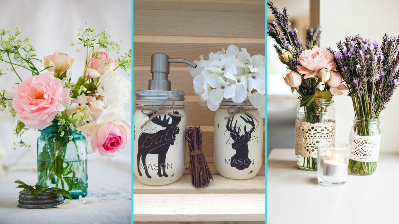 DIY Shabby chic style Spring Mason Jar