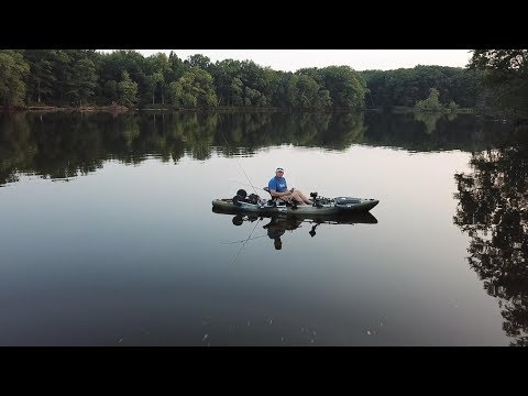 Smallmouth Bass Fishing Wisconsin River Top Water Action  (Stevens Point Wisconsin)
