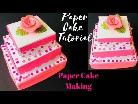 Paper Cake Tutorial | How To Make Cake Easy | Birthday paper cake tutorial